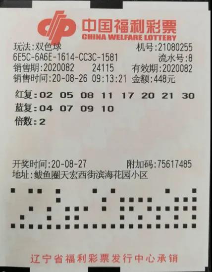 营口彩友守号两年 双倍投注中得1033万元一等奖