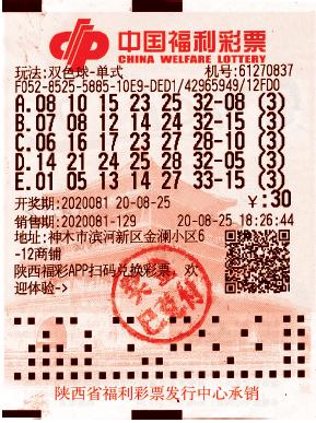 """""""要我一生一世爱妻"""" 榆林福彩双色球2117万元大奖浪漫故事"""