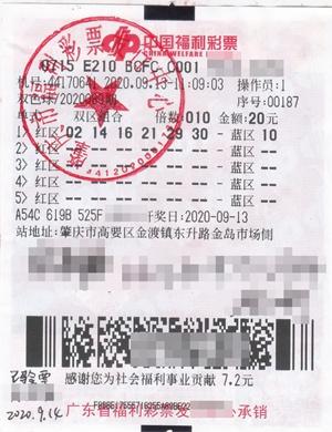 肇庆福彩中出史上最大的双色球大奖 7200万元