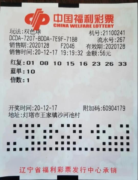 辽阳30人合买双色球彩票喜中1072万元大奖