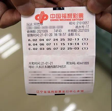 沈阳彩友花费6元喜兑双色球1000万大奖