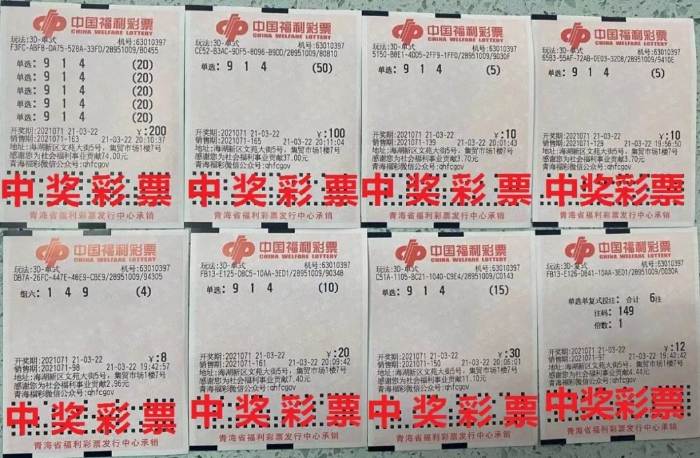 组合式投注!西宁彩民擒获19.8万元3D大奖