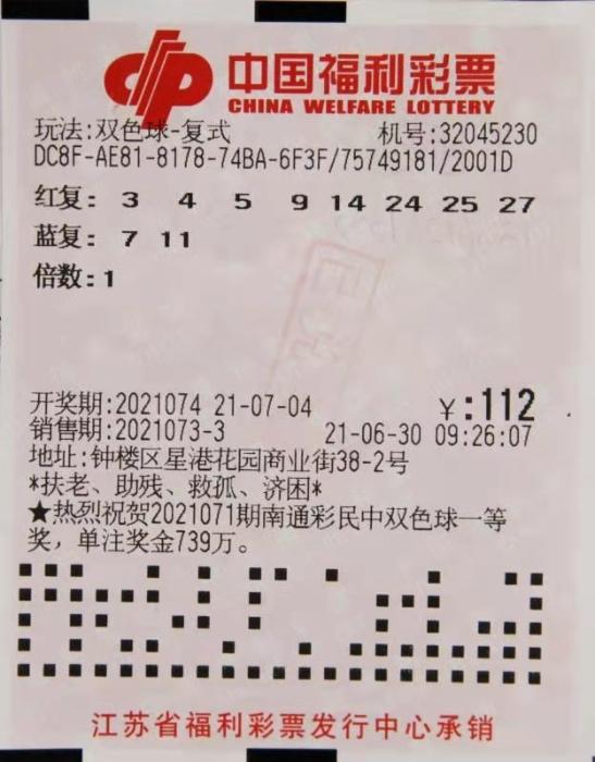 """幸运六人组 常州""""男团""""开心领走745万元双色球大奖"""