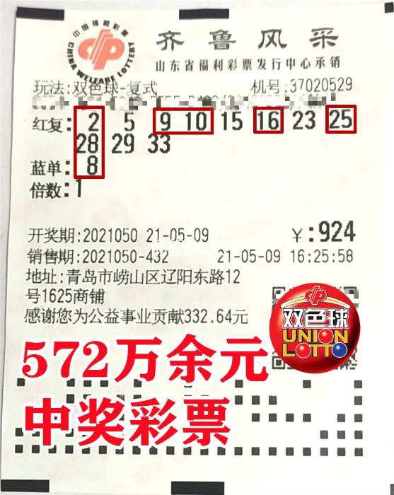 坚持抱守号码三年 24人合买团喜中双色球572万元大奖